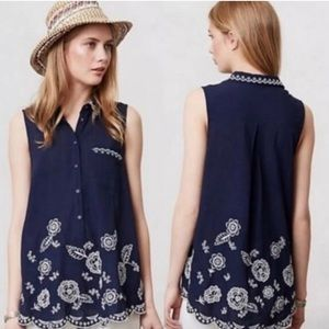 Moulinette Soeurs Eyelet Embroidered Tunic 0